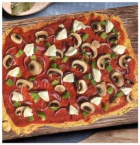 pizza de chou fleur sans gluten