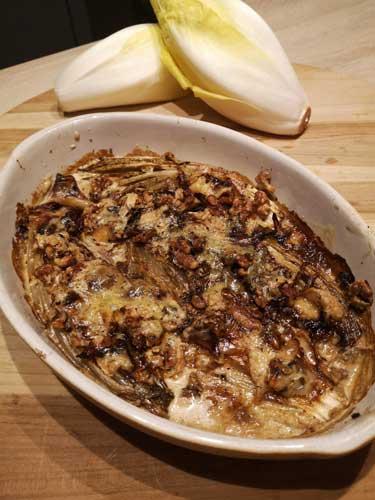 recette du gratin de chicon au maroilles