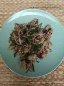 recette de crosnes à la carbonara