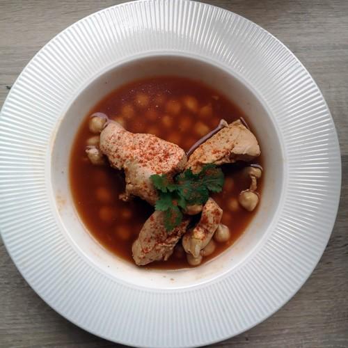 image de la soupe de poulet algerienne ch'tit'ha