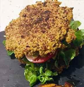 burger healthy quinoa