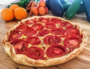 Tarte au thon et tomate