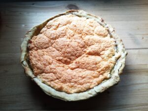 tarte à la rhubarbe rustique